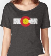 Vintage Colorado Flag Women's Relaxed Fit T-Shirt