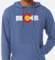 Vintage Colorado Flag Lightweight Hoodie