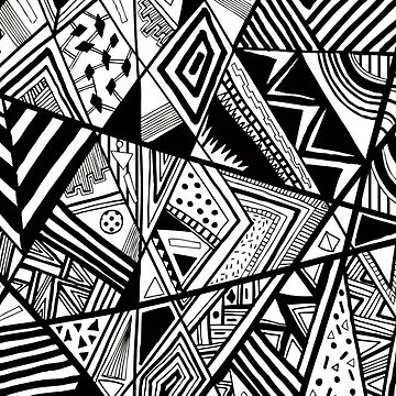 Black Geometric Pattern by whatemma
