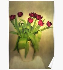 Glowing Tulips Poster