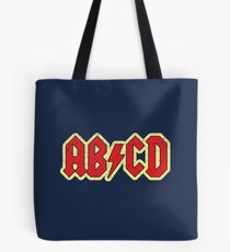 Vintage ABCD Rock & Roll Tote Bag