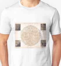 Vintage Map of The Moon (1898) Unisex T-Shirt