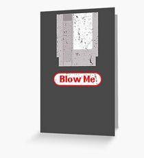 Blow Me - Vintage Nintendo Cartridge Greeting Card