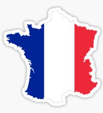 France Flag Map Sticker