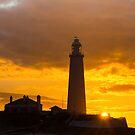 St Mary's Lighthouse Sunrise by John Dunbar