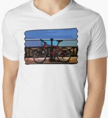 Bike Moments Mens V-Neck T-Shirt