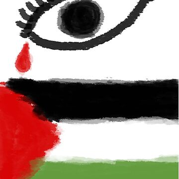 Tears for Palestine - Eye and Flag by Jay5