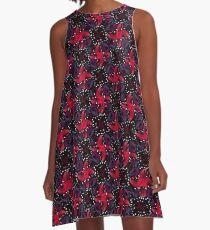 Dark Refined Luxury Pattern A-Line Dress