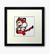 Super Calvin and Hobbes Framed Print