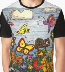 The Birds, The Bees and Butterflies Graphic T-Shirt