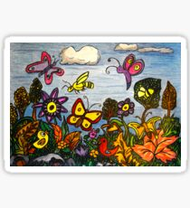 The Birds, The Bees and Butterflies Sticker