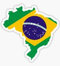 Pegatina Mapa de la bandera de Brasil
