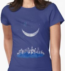 Moon Skater Women's Fitted T-Shirt