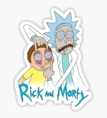 Rick And Morty | Eyes Wide Psychedelic Sticker