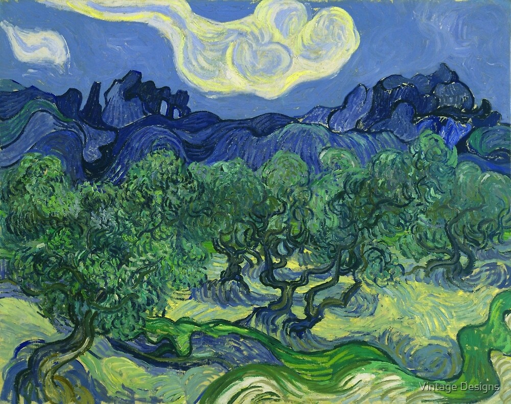 The Olive Trees by Vincent Van Gogh by Vintage Designs