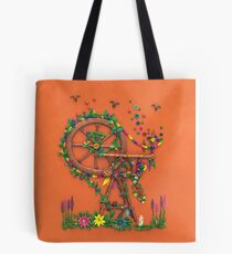 Spinning Time - Spinning Wheel Art Tote Bag