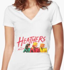 Heathers: The Musical Women's Fitted V-Neck T-Shirt