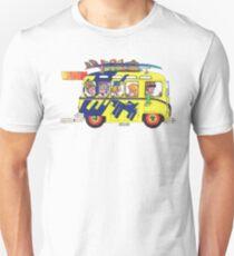 VW Camper. Surfs Up Dude. T-Shirt