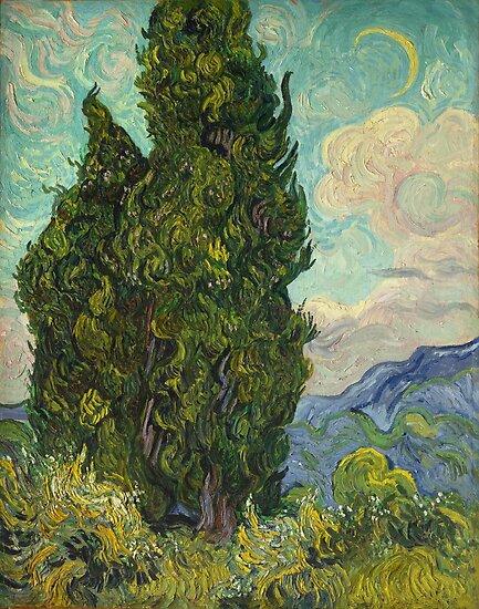 Bäume von Vincent Van Gogh von Vintage Designs