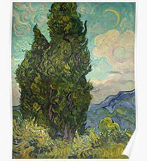 Bäume von Vincent Van Gogh Poster