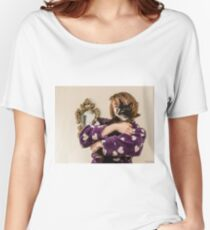 """""""Do you like Mr Tibbs, my pussy ?""""  Women's Relaxed Fit T-Shirt"""