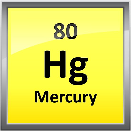 Mercury Periodic Table Element Symbol Photographic Prints By