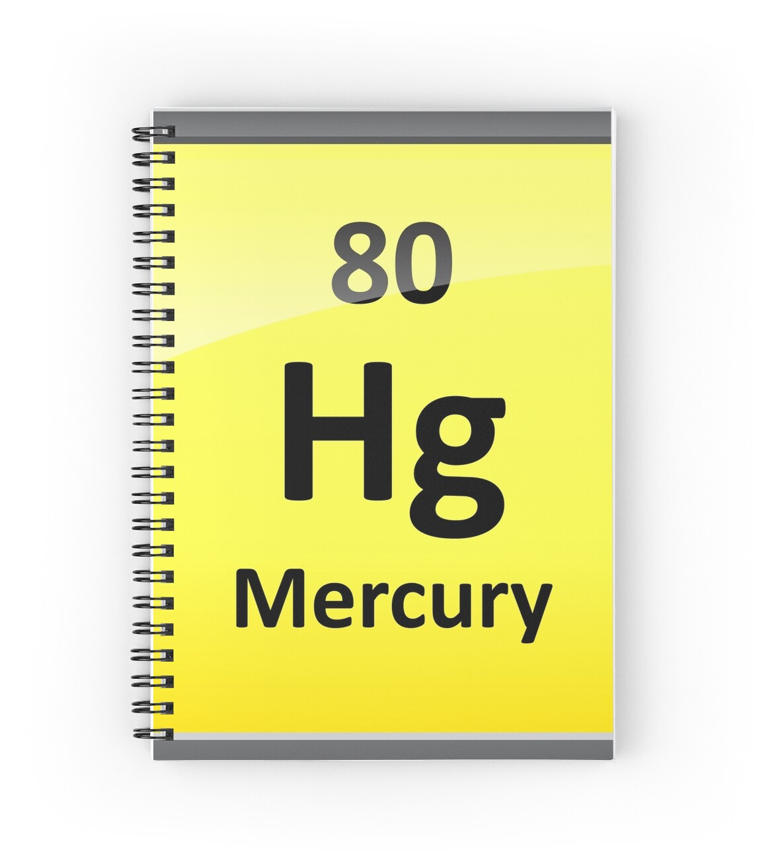 Mercury periodic table element symbol spiral notebooks by mercury periodic table element symbol by sciencenotes buycottarizona