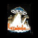 London under attack by UFOs by wonder-webb