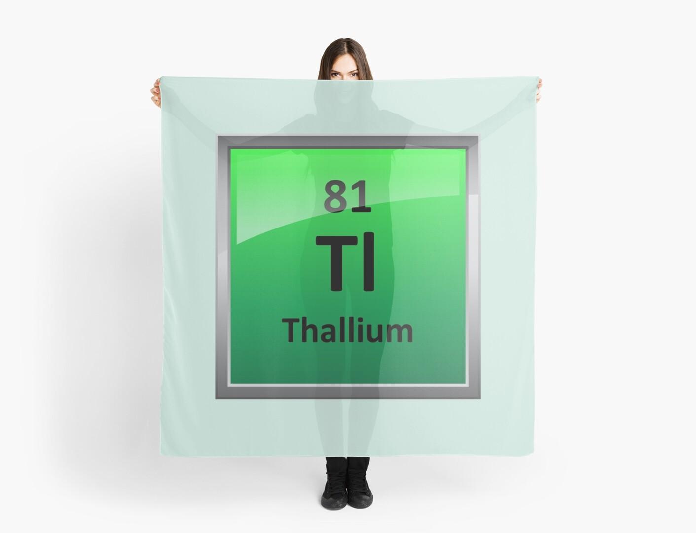 Thallium periodic table element symbol scarves by sciencenotes thallium periodic table element symbol by sciencenotes urtaz Choice Image