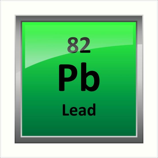Lead periodic table element symbol art prints by sciencenotes lead periodic table element symbol by sciencenotes urtaz Images