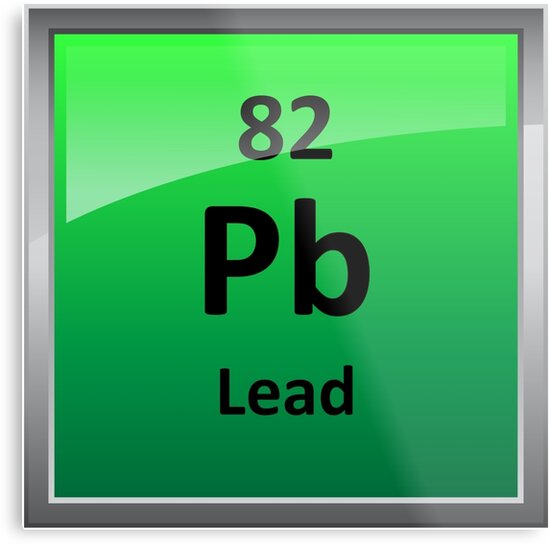 Lead Periodic Table Element Symbol Metal Prints By Sciencenotes
