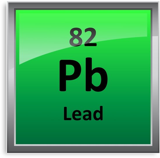 Lead Periodic Table Element Symbol Canvas Prints By Sciencenotes