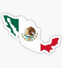Pegatina Mapa de la bandera de México
