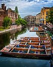 Punts on River Cam by Yukondick