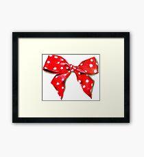 Red bow. Framed Print