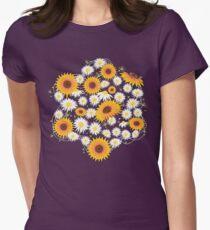 Sunflower Daisy Flower T-shirt Womens Fitted T-Shirt
