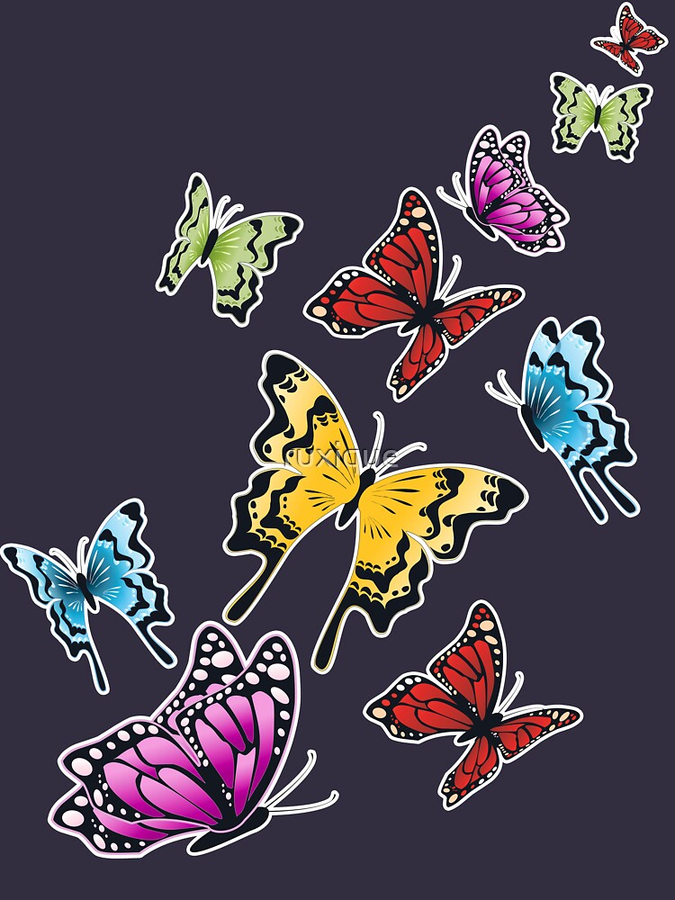 Colored Butterflies Spring  by ruxique