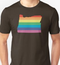rainbow oregon Unisex T-Shirt