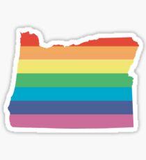 rainbow oregon Sticker