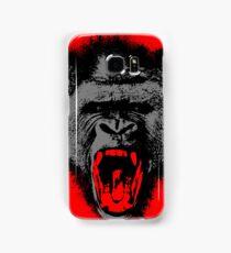 Silver Back Gorilla Scream Samsung Galaxy Case/Skin
