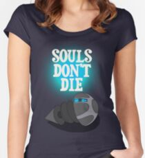 THE IRON GIANT - SOULS DON'T DIE Women's Fitted Scoop T-Shirt