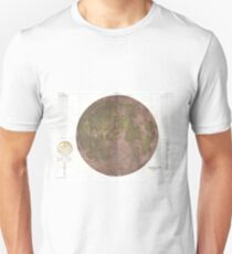 Vintage Map of The Moon (1961) 2 T-Shirt