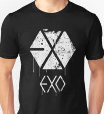 EXO GRUNGE SPRAYPAINT Slim Fit T-Shirt