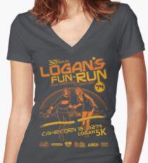 Logan's Fun-Run Women's Fitted V-Neck T-Shirt