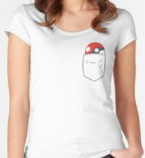 POKEBALL POCKET Women's Fitted Scoop T-Shirt