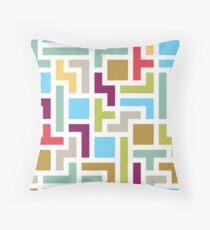 Tetris with scandinavian colors Throw Pillow