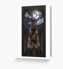 Moth Anthro Greeting Card