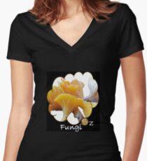 FungiOz-Taste me on the App Women's Fitted V-Neck T-Shirt