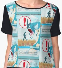 Beware your surroundings! Women's Chiffon Top