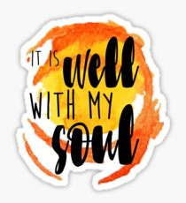 it is well with my soul cup stain watercolor Sticker